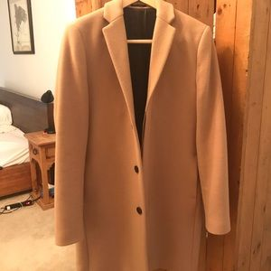 Selected homme camel overcoat size M